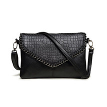ChainsHandbags PU Leather Lady Flap Zipper Solid Shoulder Bag Popular So... - $57.51