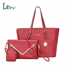 famous bagsleather handbags shoulder messengerbag sets clutch purse cros... - $57.63