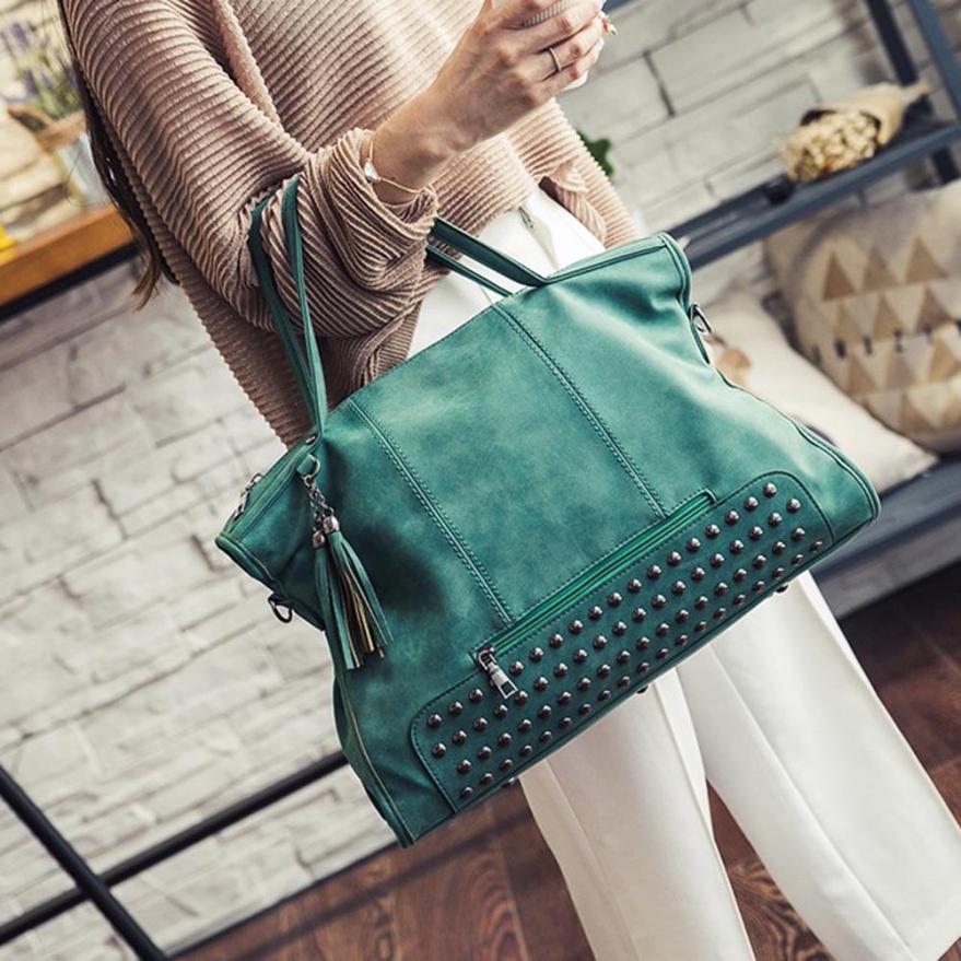 Omen handbag shoulder bag ladies tassel bag frosted women messenger crossbody bag large capacity