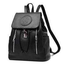 BackpackPU Leather Mochila Escolar School Bags For Teenagers GirlsBackpacks - $73.60