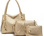 N brand 3 sets bags high grade pu leather handbag women vintage tote cow messenger thumb155 crop