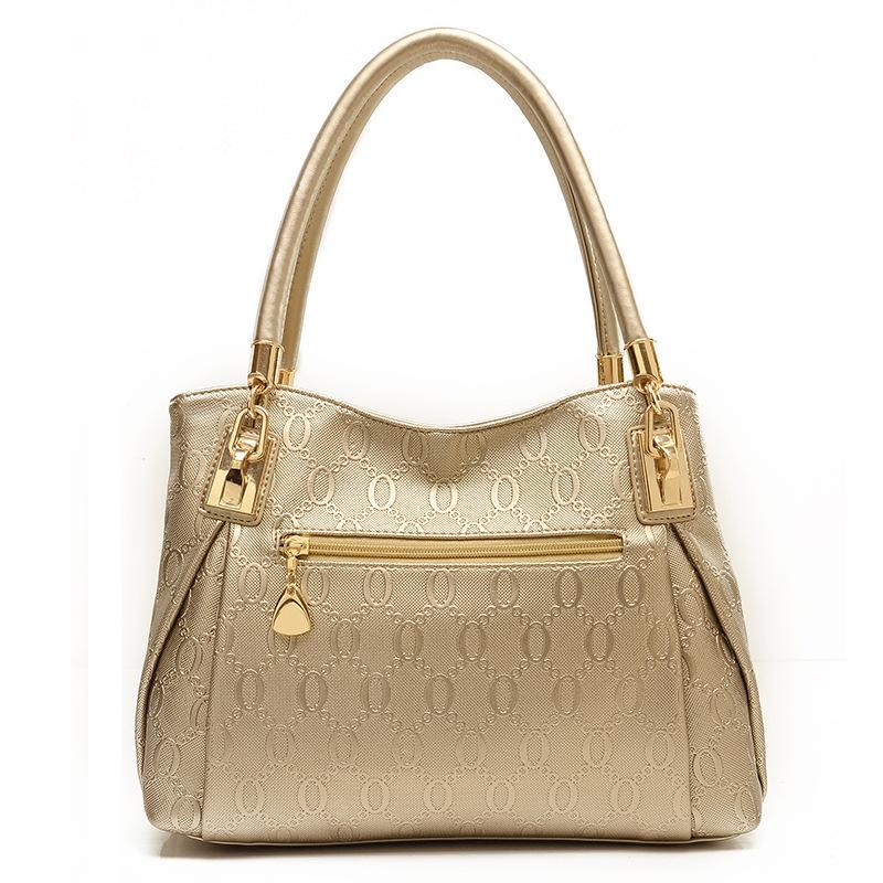 3 Sets Bags -Grade Pu Leather HandbagVintage Tote Cowmessenger bag Handbag+Messe