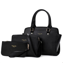 3pcs/set PU LeatherHandbag Set Trendy Tote Shou... - $90.67