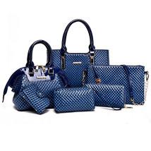 AmericanHandbag Composite Bag SolidMessenger Bags Shoulder bagWallet 6 P... - $111.60