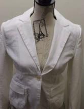 Club Monaco Of Ralph Lauren Group Women White Cropped Blazer 8 100% Cotton - $30.68