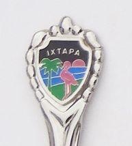 Collector Souvenir Spoon Mexico Ixtapa Flamingo Palm Tree Sunset Beach - $4.99