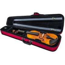 SKY Lightweight Shaped Violin Case 4/4 Size (Red) - $48.99