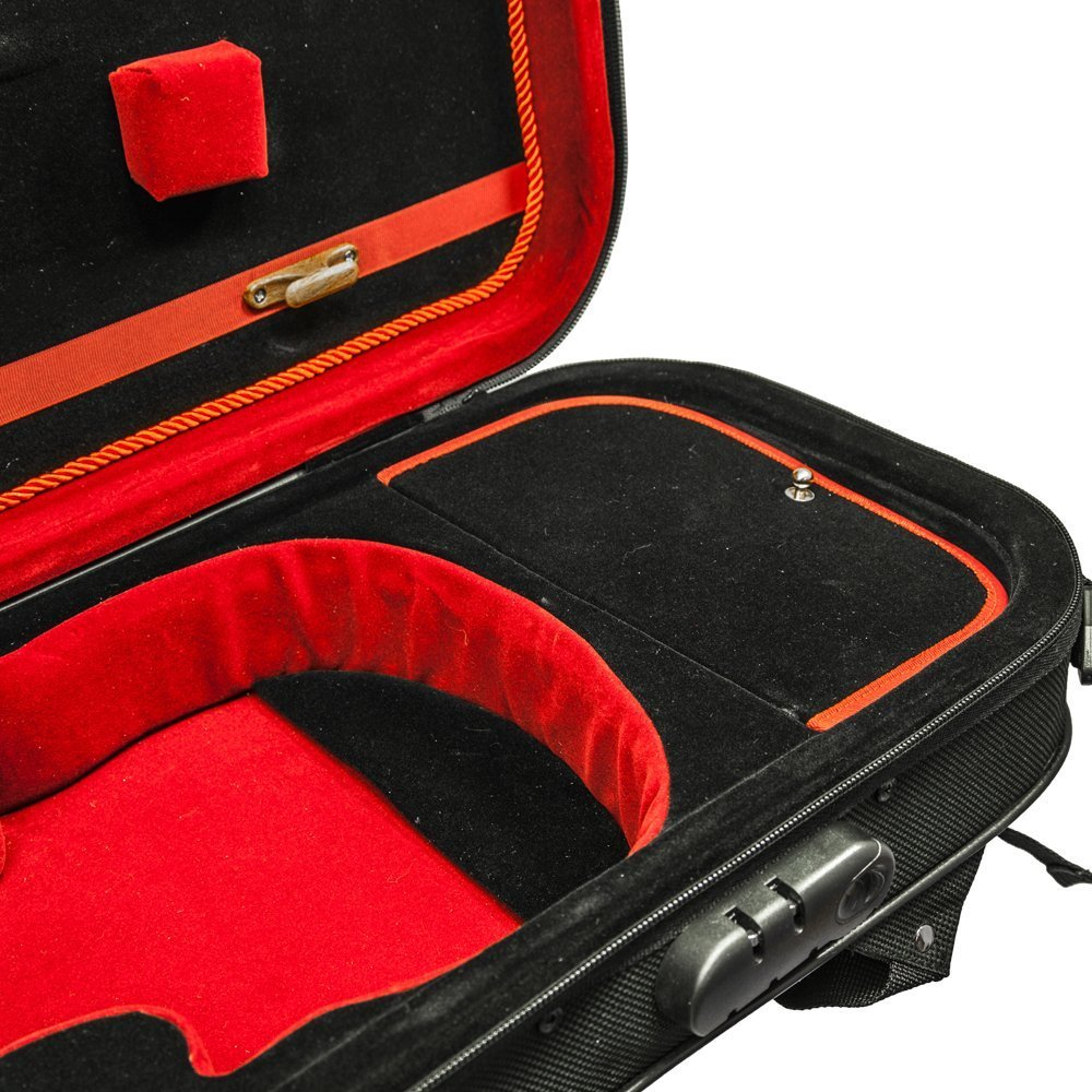 SKY Lightweight Shaped Violin Case 4/4 Size (Red)