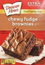 Duncan Hines Chewy Fudge Brownies 18.3oz Family Size - 2 Boxes - $7.87
