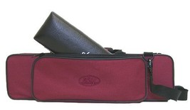 """C"" Flute/Piccolo Combo Case with Shoulder Strap (Burgundy) - $31.35"