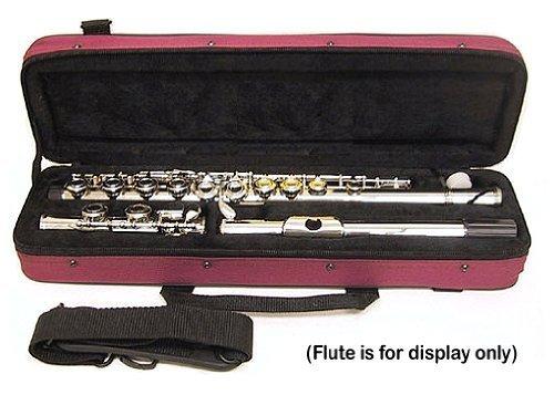 """C"" Flute/Piccolo Combo Case with Shoulder Strap (Burgundy)"