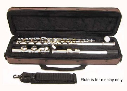 """Sky """"C"""" Flute Lightweight Case with Shoulder Strap (Coffee Brown)"""