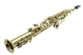 Sky Band Approved Bb Gold Plated Soprano Saxophone with Lightweight Case... - $284.19