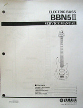 Yamaha BBN5 II 5 String Bass Guitar Service Manual and Parts List Sheets - $6.92