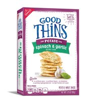 Good Thins Crackers, Spinach & Garlic, 3.75 Ounce - $4.45