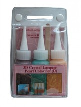 Sakura 3DCL Pearl Color Lacquer 3 bottle Set D 03036 hobby craft Brown T... - $13.98