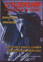 U.S. Citizenship Lessons & Test in English & Spanish DVD naturalization ... - $19.99