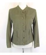 J. JILL Size M Petite, MP Sage Cotton Jacket EUC - $17.99