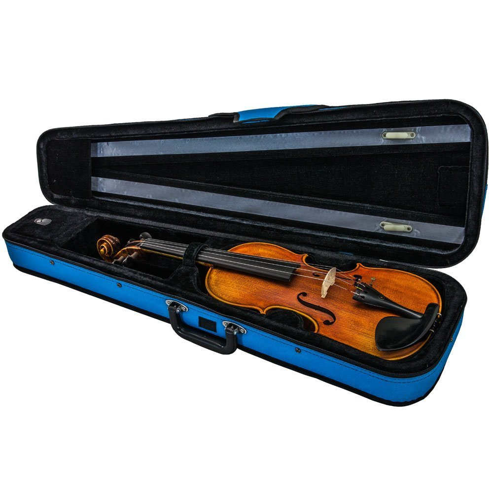SKY Lightweight Shaped Violin Case 4/4 Size (Blue)