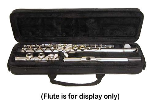 """Sky """"C"""" Flute Lightweight Case with Shoulder Strap (Black)"""