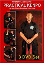 3 DVD SET Kenpo Ja She Shain Temple Concept Basics 1;2;3 Robert Temple - $58.72