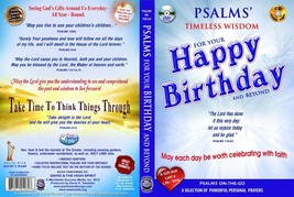 Bible Psalms for Your Happy Birthday & Beyond (MEN) DVD + Audio CD Set p... - $16.83