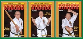 3 DVD SET Insights into Okinawan Karate Kobudo 1,2,3 Bo Sai Tonfa Nick A... - $65.27