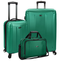 US Traveler 3pc Hytop Large & Carry-on Spinner Luggage & Under Seat Tote... - $129.99