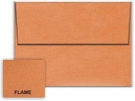 Metallic Orange Flame A6 (4-3/4-x-6-1/2) Envelopes 50-pk - 120 GSM (81lb... - $14.63