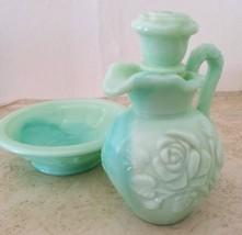 Vintage Avon Victorian Pitcher & Bowl Skin So Soft Bath Oil Decanter   - $12.36