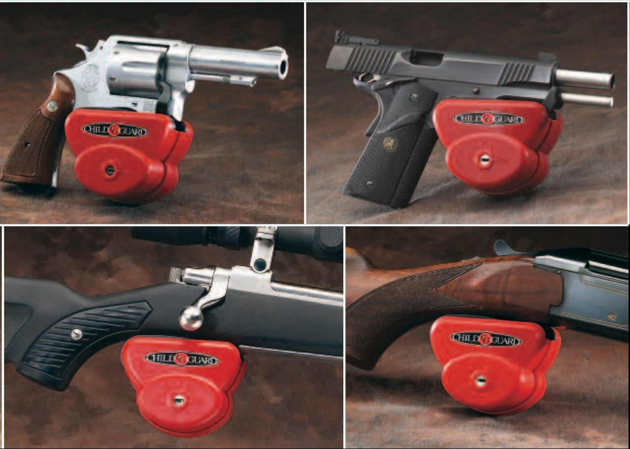 Gun Safety Locks : Child guard cs adjustable firearm safety and