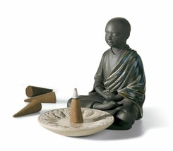 Lladro Porcelain Retired 01012495 Incense burner (black) New in Box 2495 Matte - $374.00