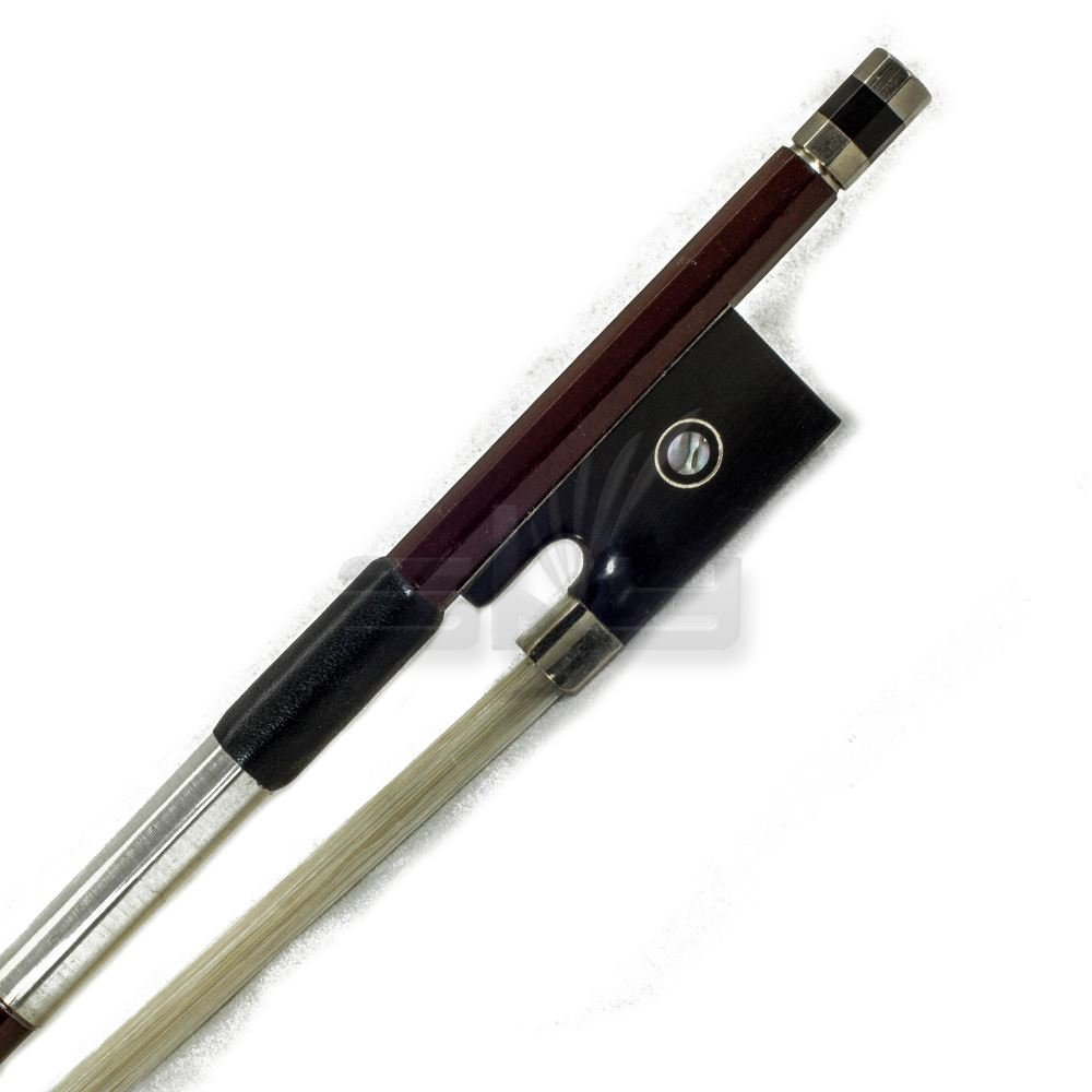 PAITITI 4/4 Violin Bow Satin Carbon Fiber Round Stick Mongolian Horsehair Sil...