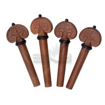 SKY Brand New 4/4 Full Size Jujubewood Violin Hand Carved Pegs Endpin Set - $19.59