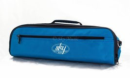 Sky Brand New C Flute Hard Case Cover w Side Pocket/Handle/Strap Sky Blu... - $21.55