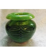 "David Lotton 4"" Tall Vintage Spider Web Design Bubble Vase (Signed) - $324.99"