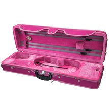 SKY 4/4 Full Size Violin Oblong Case Lightweight with Hygrometer Pink/Pink - $127.39