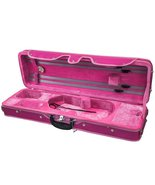 SKY 4/4 Full Size Violin Oblong Case Lightweight with Hygrometer Pink/Pink - $127.39