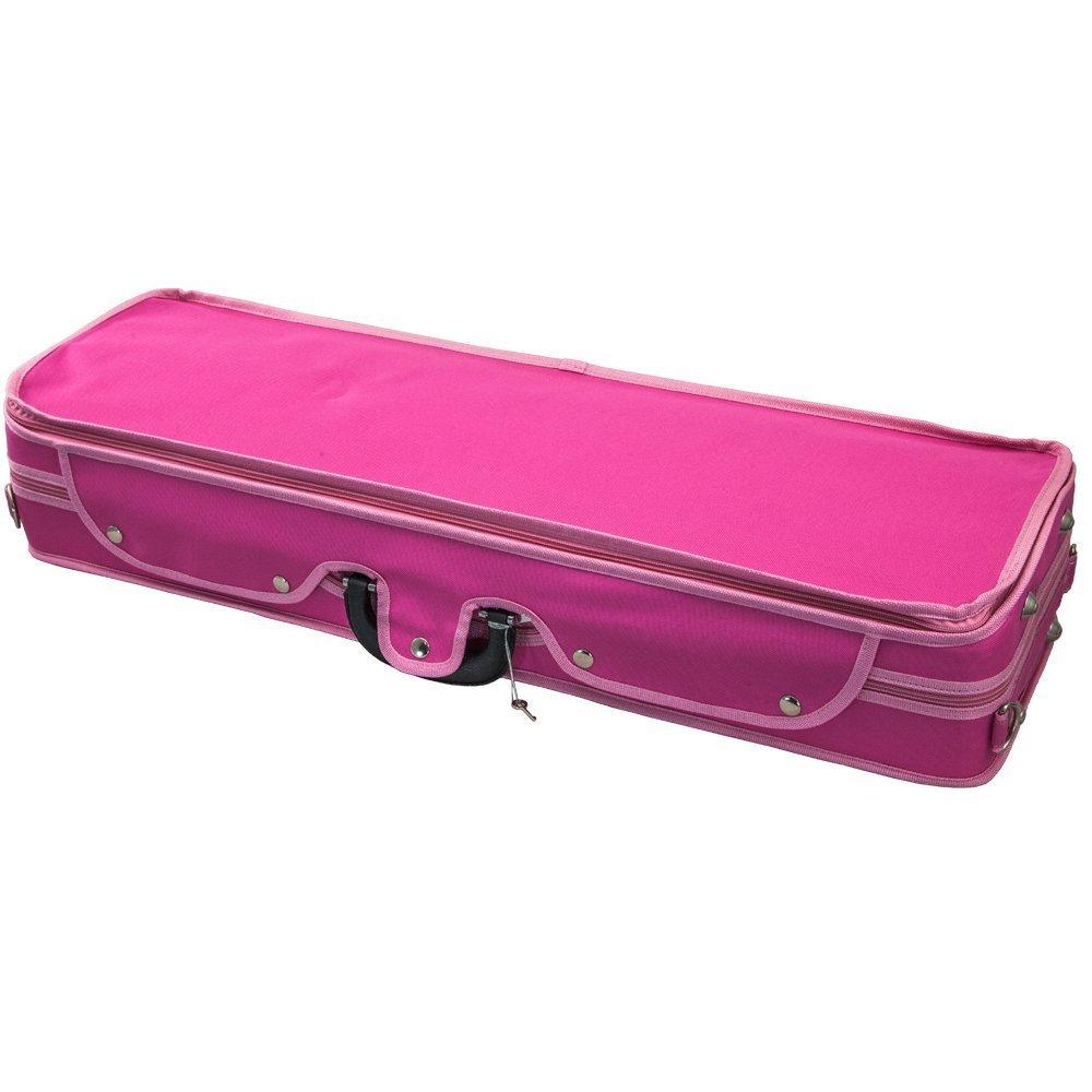 SKY 4/4 Full Size Violin Oblong Case Lightweight with Hygrometer Pink/Pink