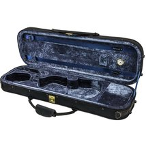 SKY 4/4 Full Size Violin Oblong Case Lightweight with Hygrometer Black/D... - $58.79