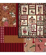 Christmas Gingerbreads, Large Panel, FQs, 1/2 Y... - $47.31
