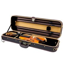SKY Violin Oblong Case Solid Wood Imitation Leather with Hygrometers Bro... - $137.19