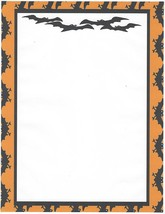 Halloween Bats Stationery Printer Paper 26 Sheets - $9.89