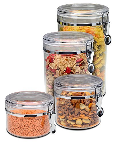 Bellemain 4 Piece Airtight Acrylic Canister Set Food Storage Container h l w