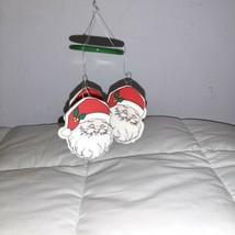 Russ Christmas Holiday Windchimes Santa - Russ Berrie Chimes Vintage - $12.00