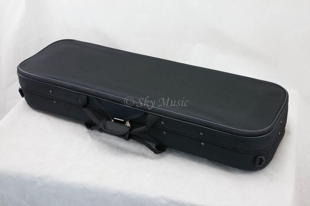 SKY Violin Oblong Case Lightweight with Hygrometer Black/Green