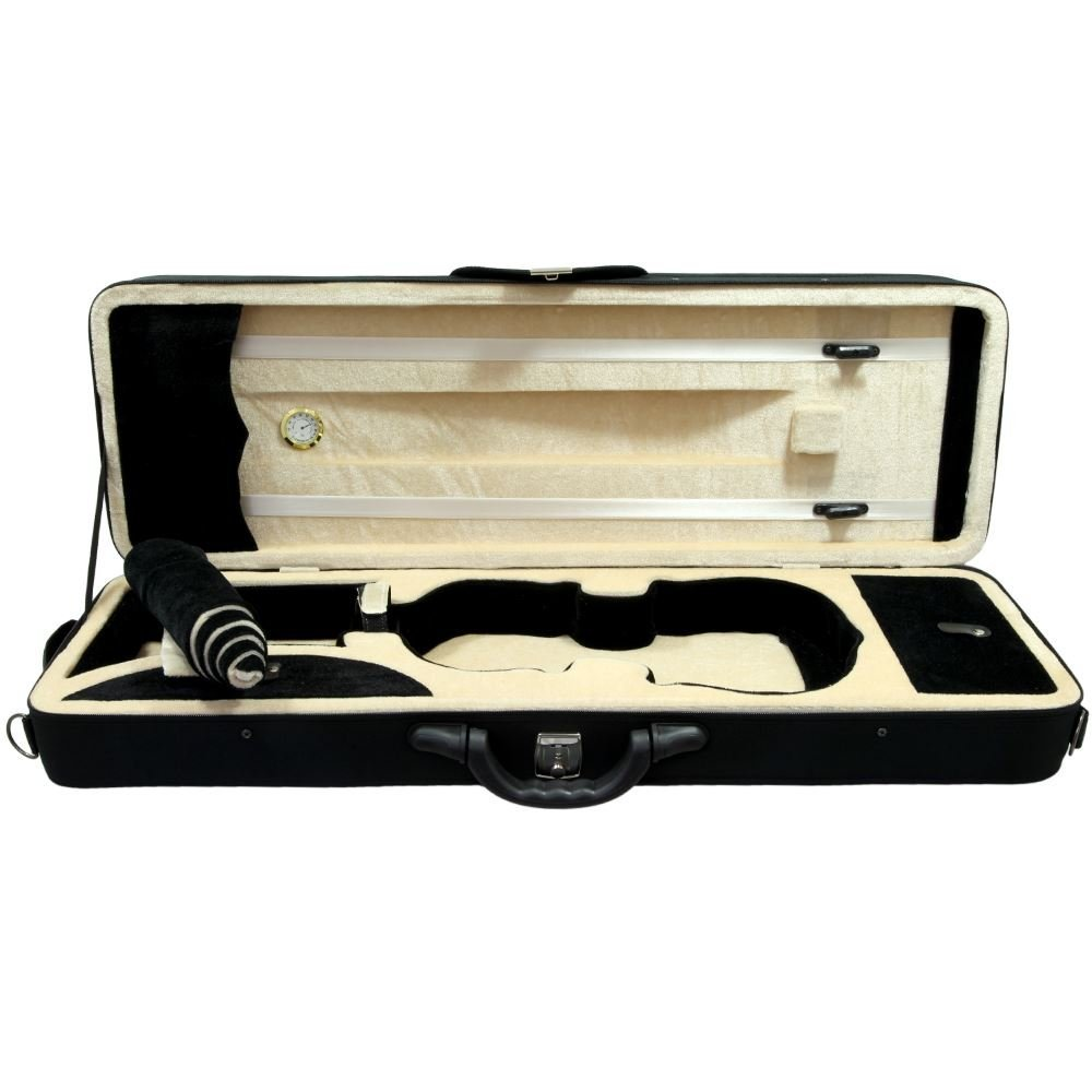 SKY 4/4 Full Size Professional Oblong Shape Lighweight Violin Case with Hygro...