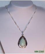 NM-2300 - Drop Shape Amazonite Gemstone on Silv... - $17.82