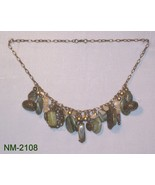 NM-2108 - Natural Gemstones & Brass Beads and C... - $24.75