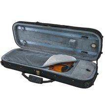 SKY 1/4 Violin Oblong Case Lightweight with Hygrometer Black/Grey image 2
